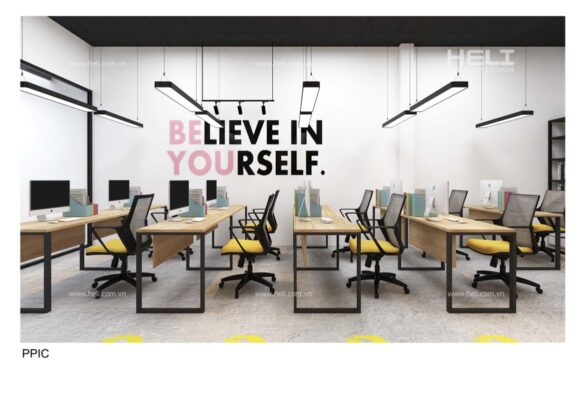 thiết kế nội thất co-working space
